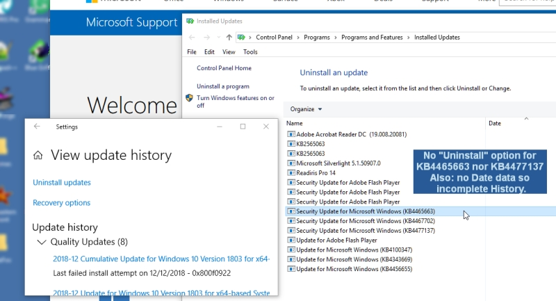 How to restore when Uninstall fails? - Microsoft Community